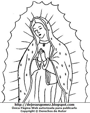 Dibujos De La Virgen De Guadalupe Para Colorear E Imprimir