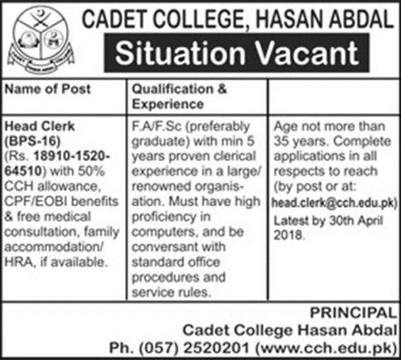 Cadet College Hasan Abdal Punjab