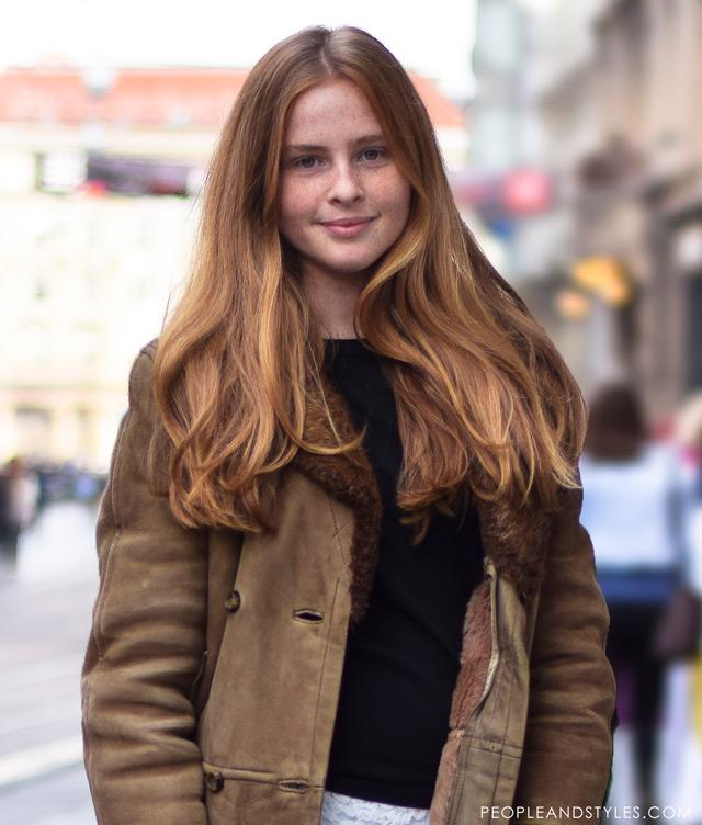 Laura Bračun, latest street winter 2014 fashion,