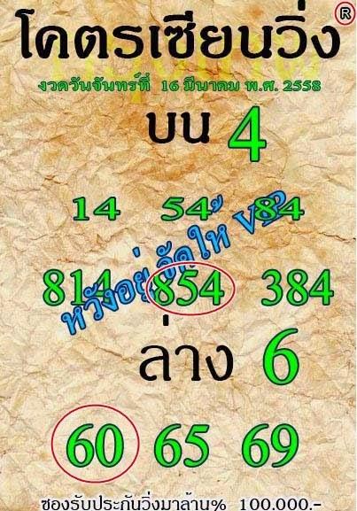 หวยโครตเซียนวิ่ง 16/3/2558,หวยซองงวดนี้,ข่าวหวยงวดนี้,หวยเด็ดงวดนี้ ,เลขเด็ดงวดนี้