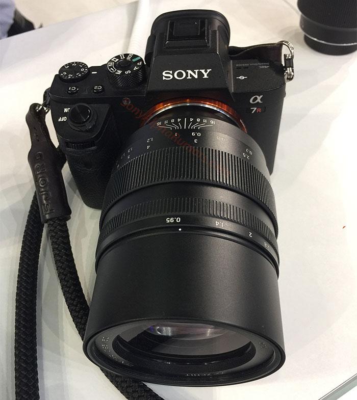 Зенит 50mm f/0.95 установлен на камеру Sony