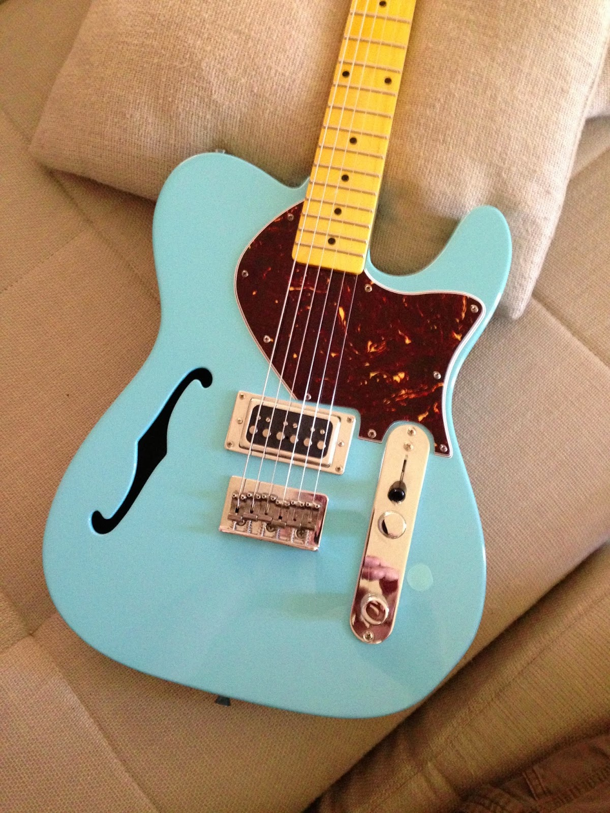 the ones that got away xaviere sonic blue thinline telecaster customized. Black Bedroom Furniture Sets. Home Design Ideas