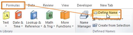 Cara Define Name Excel
