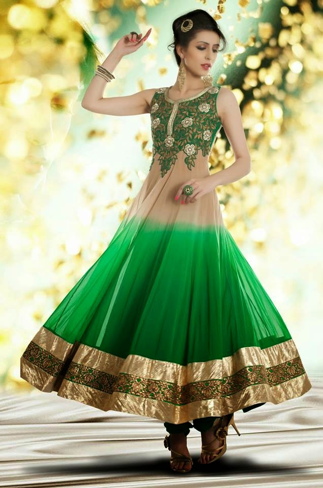 Latest Fashion Trend Of Long Designer Frocks 2014 2015 For