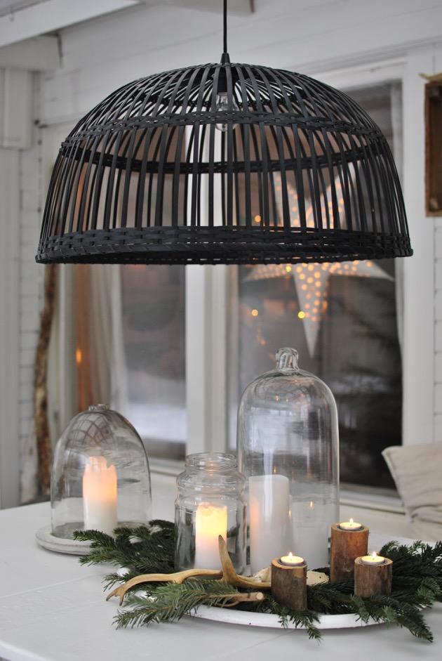 christmas ljusbricka jul i uterum renhorn granris hannashantverk.blogspot.se