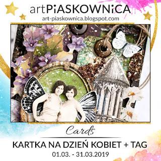 CARDS - kartka z okazji Dnia Kobiet + tag