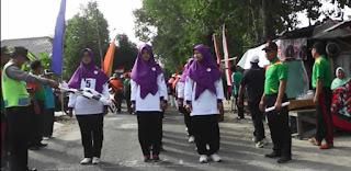 Gerak Jalan Sehat Peringatan HUT RI 72 SMK Sakti Gemolong