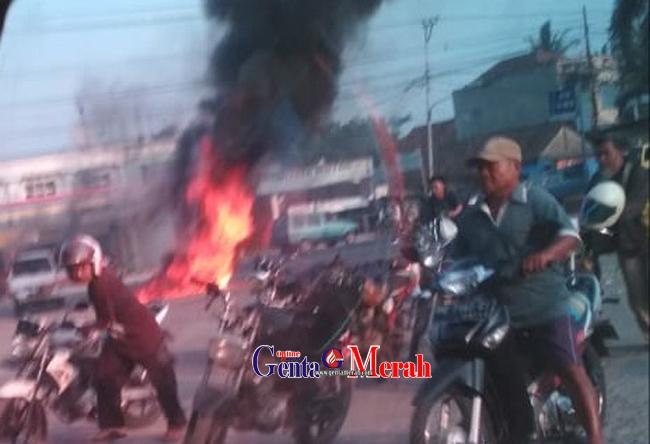 Sedang Antri BBM, Futura Bermuatan LPG Terbakar di SPBU Yukumjaya