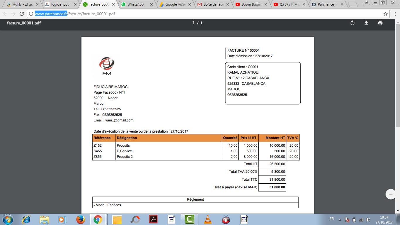 logiciel gratuit pour g u00e9rer les factures et devis et des