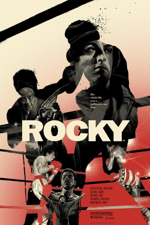 Grzegorz Domaradzki ilustrações cartazes pôsteres filmes arte cinema Rocky (Rocky: Um Lutador)