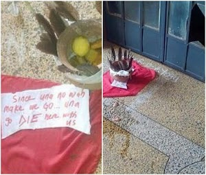 UNN Students place 'charms' in front of lecturers office (Photos)
