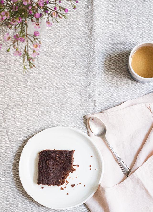 receta brownie vegano de calabacín