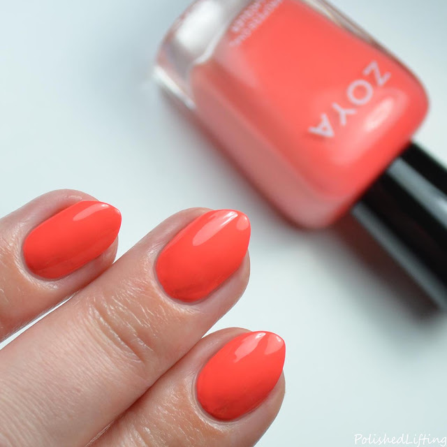 orange nail polish swatch