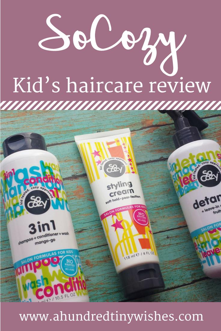 kid's hair care, #SoCozy #SplashHappy #SoCozyKid