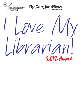 I Love My Librarian logo