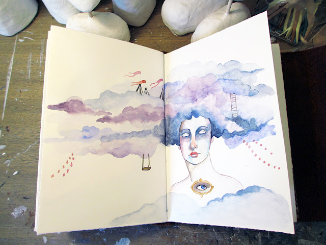 Amber Leilani, Sketchbook, sketchbook conversations, watercolor
