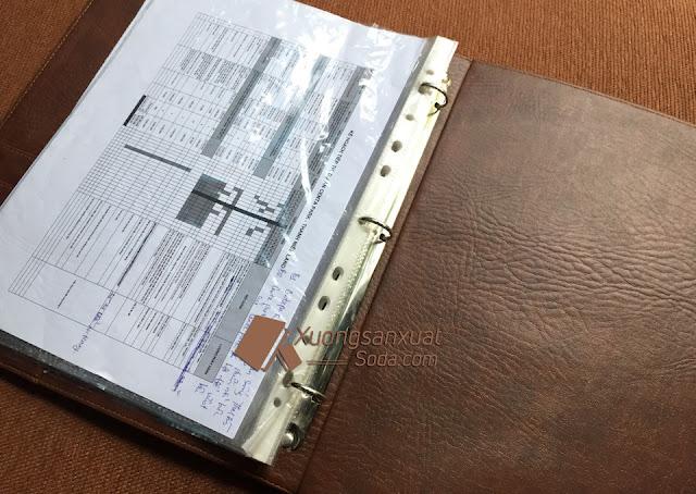 bìa tài liệu da