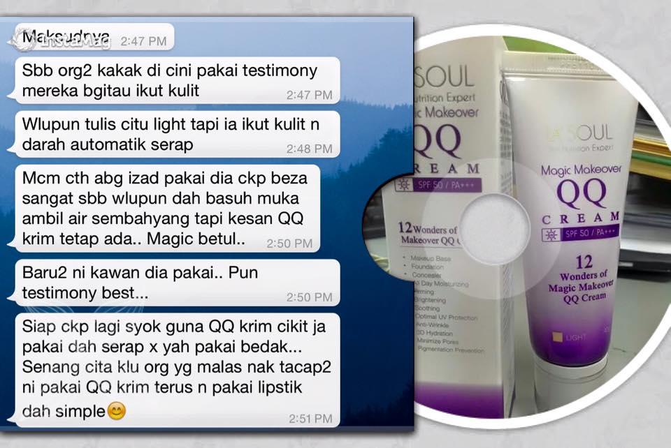 Secret Miracle Sne La Soul Testimoni Lasoul Magic Makeover Qq Cream Customer