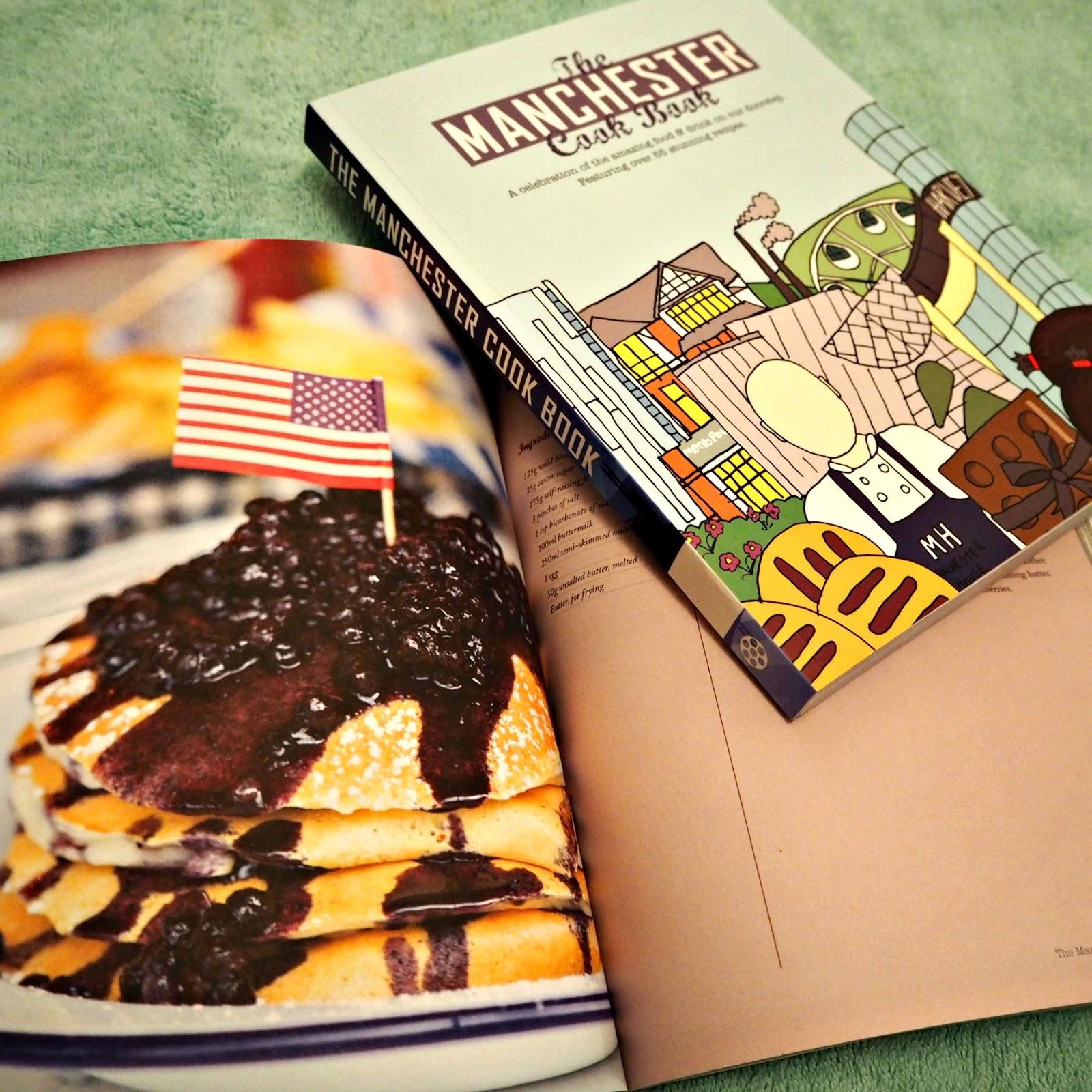 Pancake recipe inside cookbook