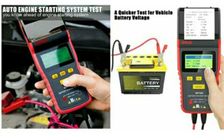 Ancel Car Battery-Load Tester: BST500 Diagnostic Scan Tool for Vehicle Charging System - 12V/24V Battery Analyzer with Printer