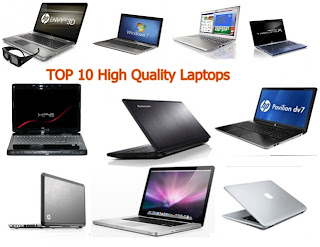 Top 10 and High Quality Laptops in 2012