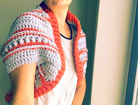 colorful shrug bolero crochet pattern