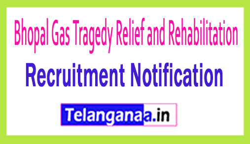 Bhopal Gas Tragedy Relief and Rehabilitation BGTRR Recruitment