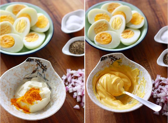 turmeric egg salad ingredients