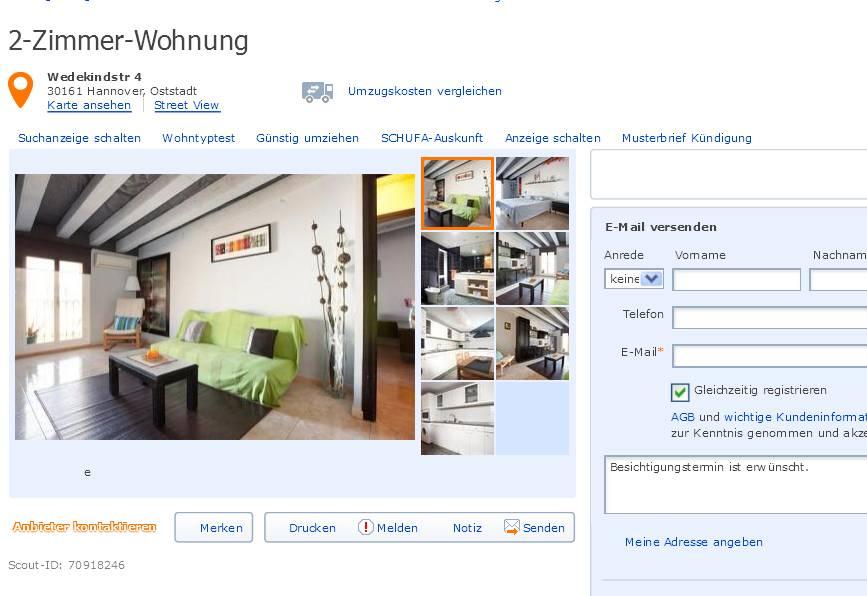 marjaliisa62 2 zimmer wohnung wedekindstr 4 30161. Black Bedroom Furniture Sets. Home Design Ideas