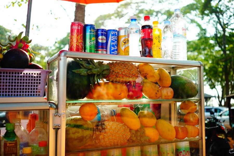 Angkor snack, coconut shake