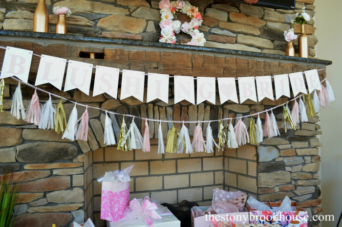 Gold Bottles for the bridal shower