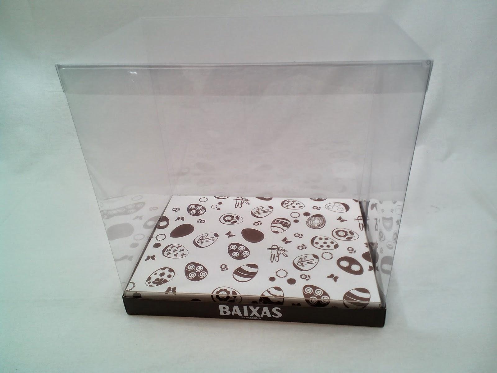 caja transparente impresa