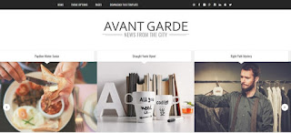 avant garde blogger template theme