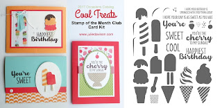 Stampin' Up! Cool Treats Card Kit from 2017 Occasions Catalog for January Stamp of the Month Club by Julie Davison www.juliedavison.com/clubs