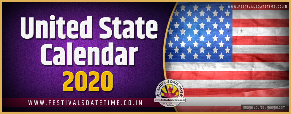 2020 United States Holidays, Festivals, and Observances Date and Calendar