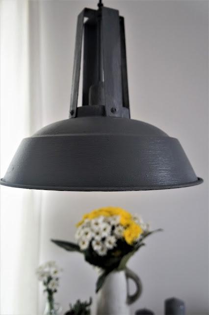 lampa w stylu industrialnym, lampa beton,