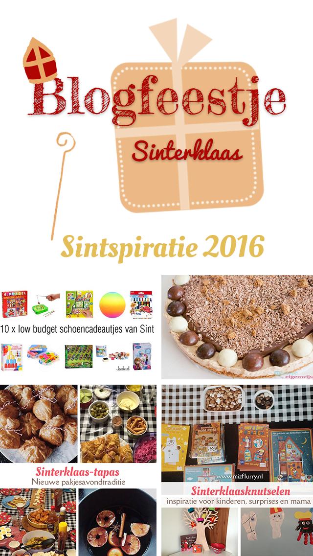 Sintspiratie 2016; een blogfeestje met als thema Sinterklaas. Doe inspiratie op.