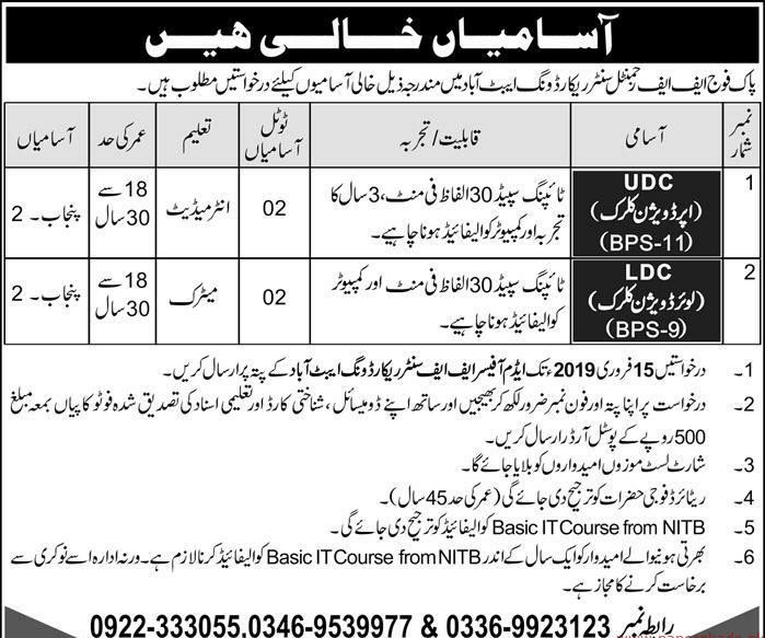 Pakistan Army Jobs Latest 2019