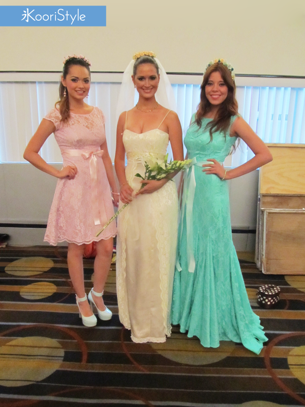 KooriStyle, Fashion, Runway, Dress, Lace, Flowers, FashionDesign, Design, Pink, Mint, Coral, Green, Aqua, Wedding, WeddingDress