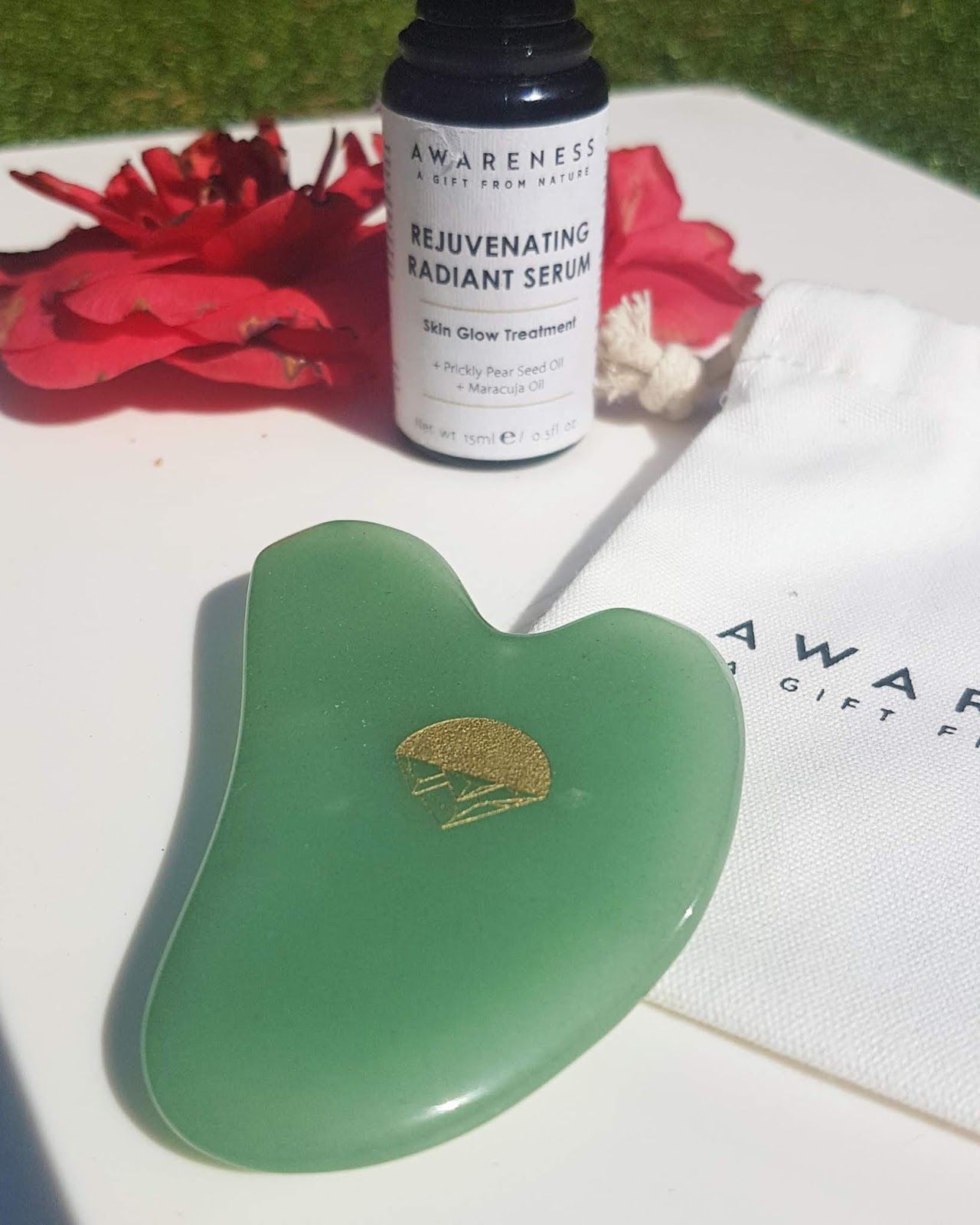 Awareness Organics jade gua sha tool