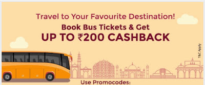 Paytm Bus Ticket Offer- Get 100% Cashback On Paytm Bus Ticket Booking