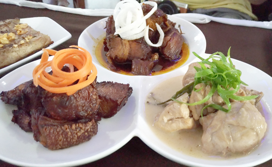 Trio of Adobo Sampler, Cafe Frances at The Pinnacle Hotel
