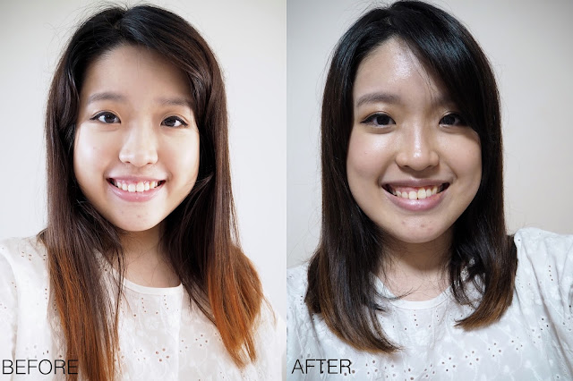 Volume Rebonding Before and After Review with The Scene at Raffles City Lunarrive Singapore Lifestyle Blog