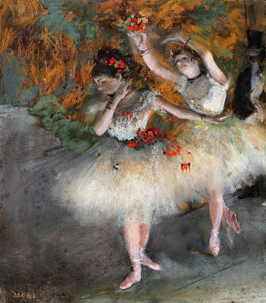 Edgar Degas Two Dancers Entering the Stage