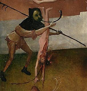 Jérôme Bosch : détail du Charriot de foin, panneau de droite, musée du Prado, Madrid
