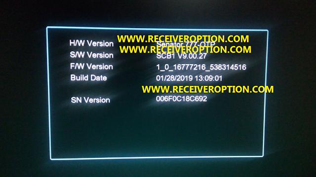 SENATOR 777 HD RECEIVER AUTO ROLL POWERVU KEY NEW SOFTWARE