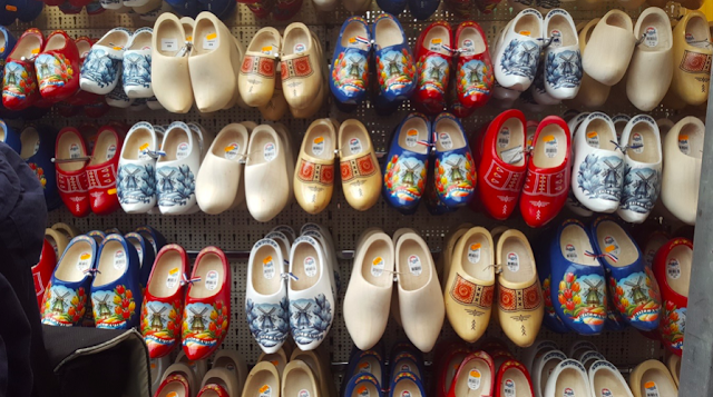 Clogs at the Bloemenmarkt in Amsterdam
