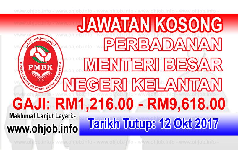 Jawatan Kerja Kosong PMBK - Perbadanan Menteri Besar Kelantan logo www.ohjob.info oktober 2017