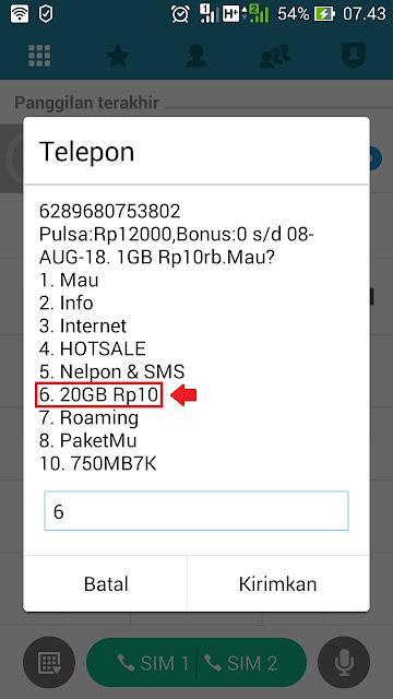 paket internet murah 3 kuota 20gb