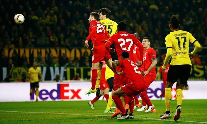 Europa League Match: Borussia Dortmund 1 - Liverpool 1